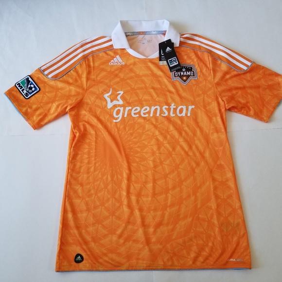 best service 3f771 83a85 Adidas Houston Dynamo MLS Soccer Jersey NWT Sz Med NWT